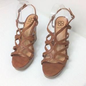 Daisy Fuentes Brown Women Platform Shoe Size 10